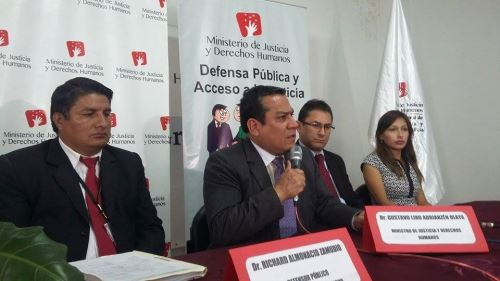 Ministro de Justicia, Gustavo Adrianzén, realizó varias actividades en Ayacucho.