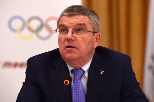 Thomas Bach, Presidente del COI. Foto: AFP