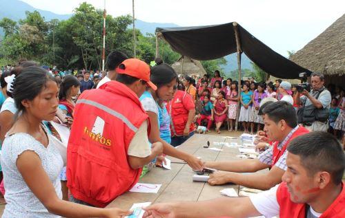 Programa Juntos inició actividades en comunidades indígenas de 14 distritos de región Ucayali.