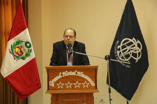 Presidente del BCR, Julio Velarde, durante inauguración de Encuentro Económico en Huánuco. Foto: BCR.