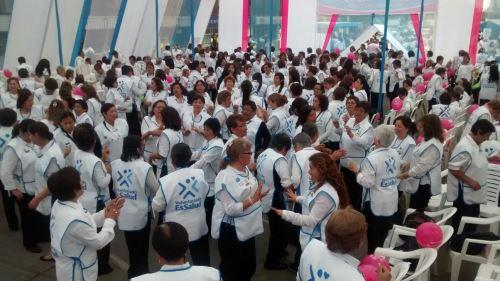 Voluntarias de EsSalud recibieron reconocimiento. Foto: Difusión