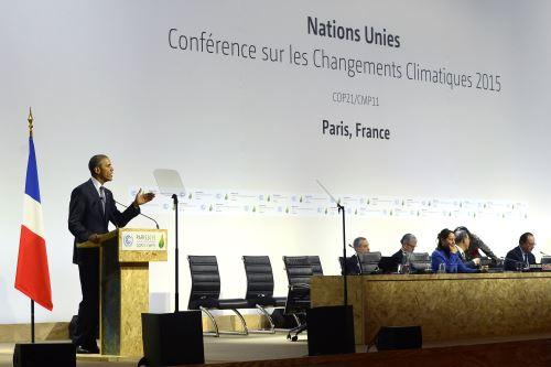 Presidente Obama en la COP21, en París, Francia.