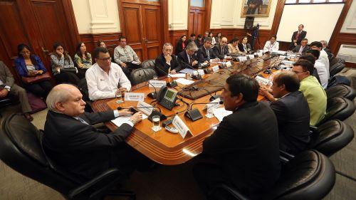 Jefe del Gabinete, Pedro Cateriano, se reúne con autoridades de Madre de Dios.