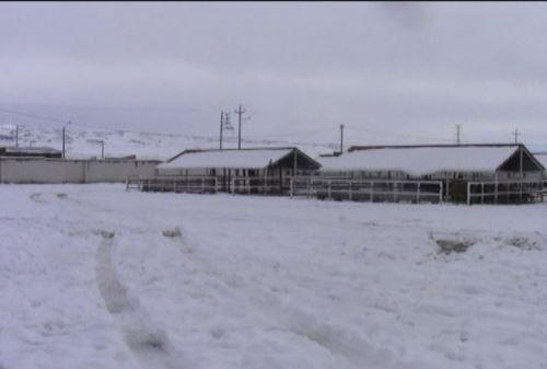 nevadas en la sierra central y sur