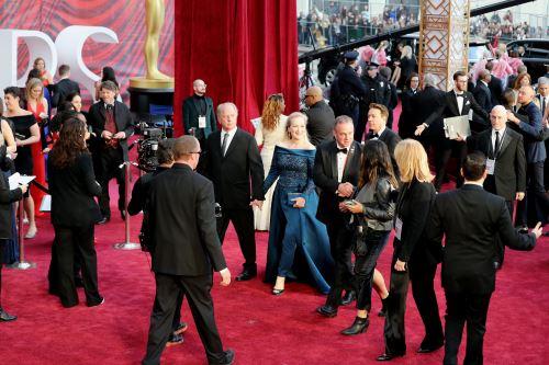 La actriz llegando a los premios Oscar