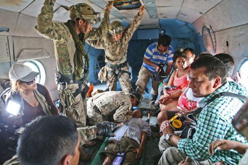 Fuerzas Armadas atendieron emergencias en el norte del país