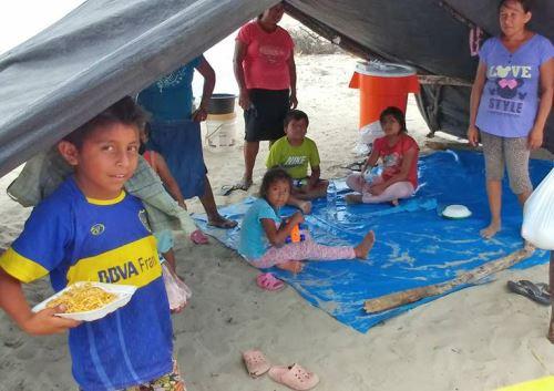 Los damnificados vivieron en albergues al colapsar sus viviendas.