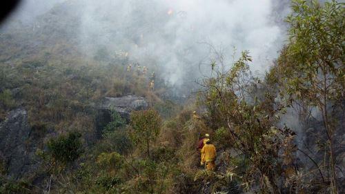 Los incendios forestales son otra amenaza al Santuario Machu Picchu.