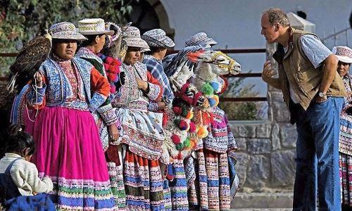 Un gran número de turistas extranjeros visitó el valle del Colca en agosto.