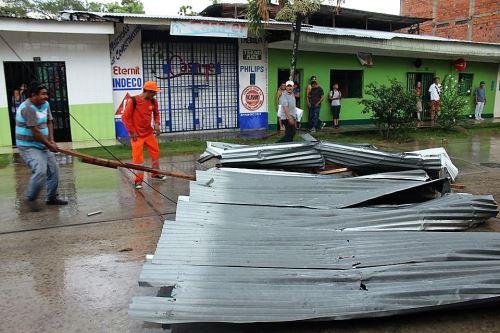 Los daños se reportaron en la zona urbana de Tarapoto y en zonas aledañas.
