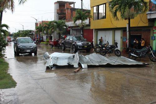 Fenómenos naturales causaron daños también en el servicio público de Tarapoto.