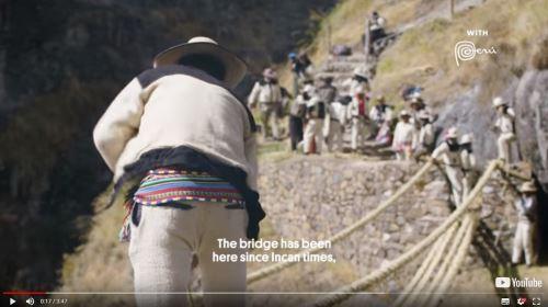 El especial muestra el ritual ancestral de la renovación del puente colgante Inca.