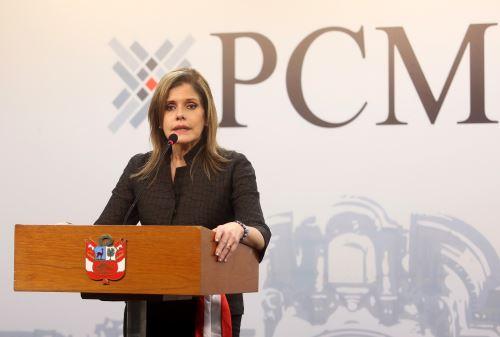 Mercedes Aráoz, titular del Consejo de Ministros