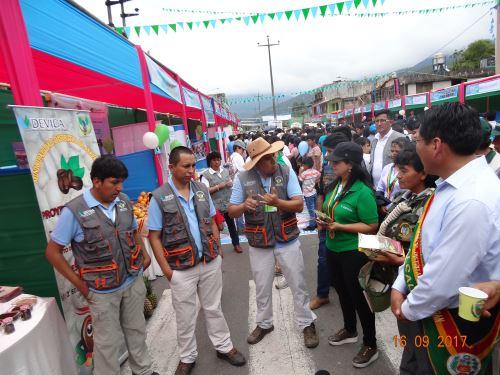 Devida promueve desarrollo de proyectos productivos de San Gabán.