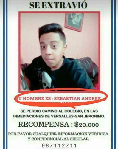 Padres publicaron avisos para hallar a menor desaparecido en agosto.
