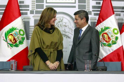 Mercedes Aráoz se reúne con Luis Galarreta, presidente del Congreso