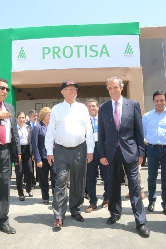 Inauguración de la planta de Protisa