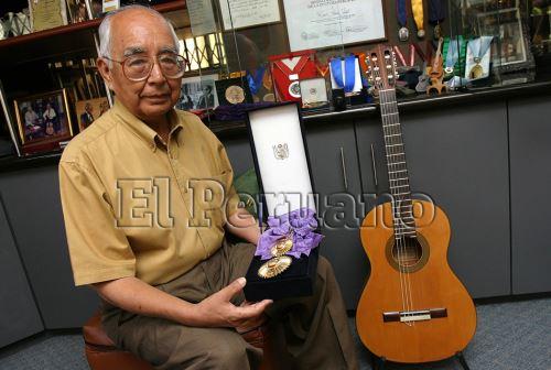 El guitarrista ayacuchano Raúl García Zárate