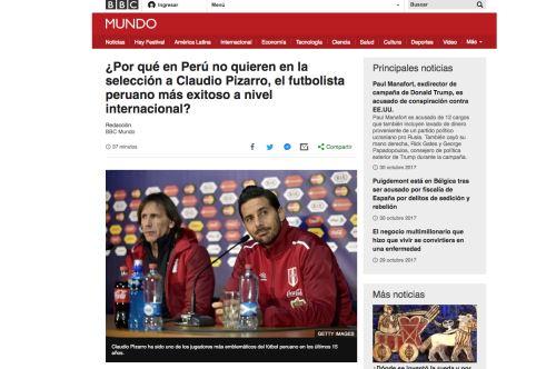 Selección peruana: La posición de la bicolor sobre Claudio Pizarro
