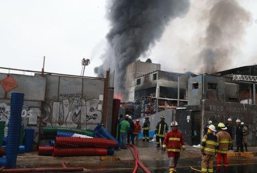 Incendio en el Cercado de Lima