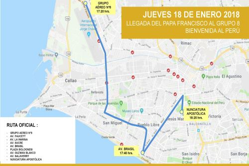 Peru Routes For Papal Visit To Lima Released News ANDINA - Where is lima