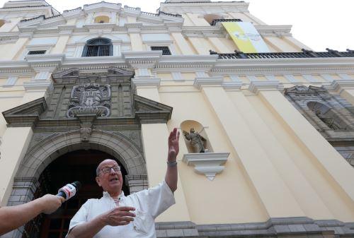 Papa Francisco en la iglesia San Pedro
