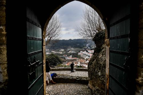 Ciudad medieval de Obidos, Portugal