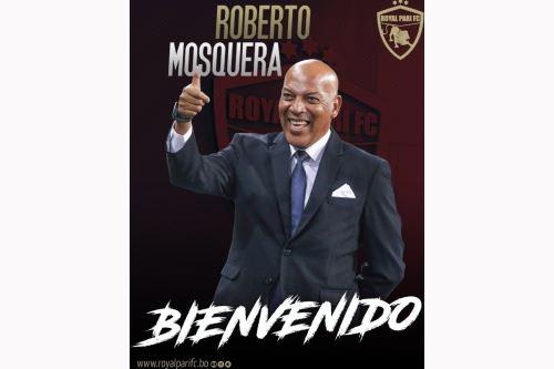 Roberto Mosquera fue presentando como técnico del Royal Pari de Bolivia