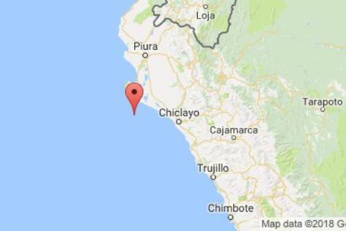 Temblor de magnitud 4.6 remeció este viernes a Piura