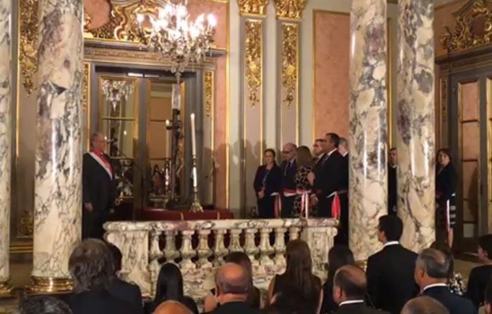 Juramentación de Vicente Romero, titular del Ministerio del Interior