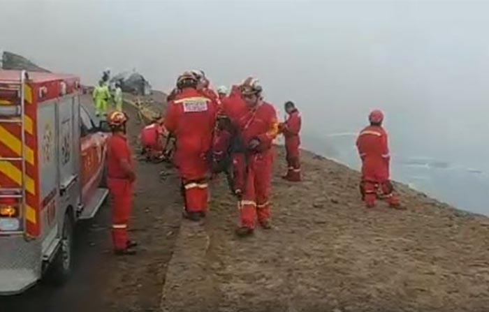 Continúa recuperación de cuerpos tras accidente en el Serpentín de Pasamayo