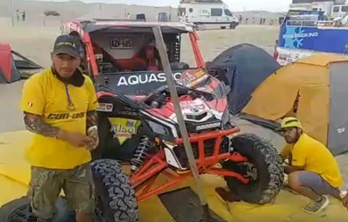 Pilotos se alistan para la tercera etapa del Dakar 2018