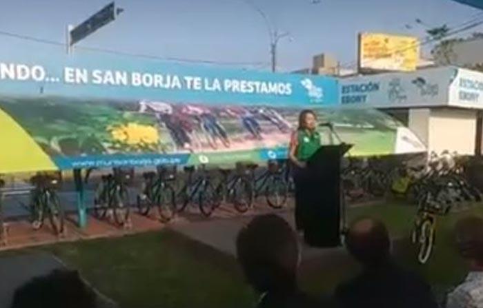 Minam y Municipalidad de San Borja premian al usuario 660 mil del programa de bicicleta pública San Borja en Bici.