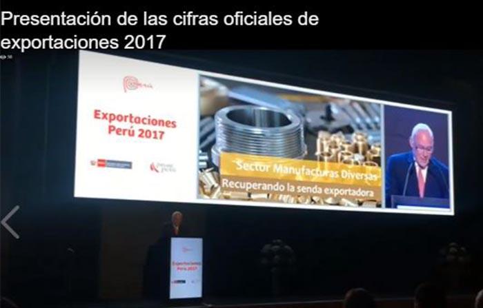 Presentación de las cifras de exportación del 2017 PromPerú