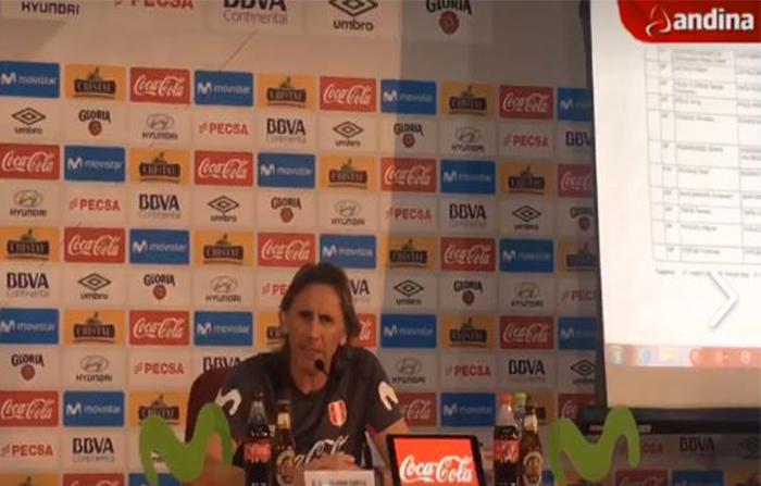 Ricardo Gareca habla sobre el caso Paolo Guerrero y los convocados a la Selección Peruana