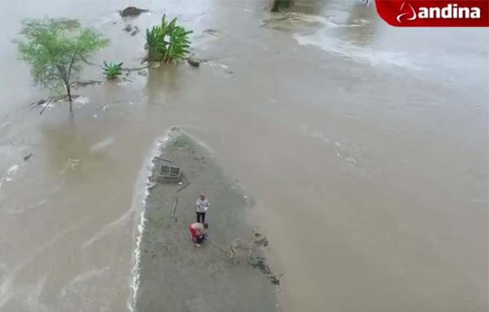 Dron de Andina ayudó a ubicar campesinos extraviados en Piura