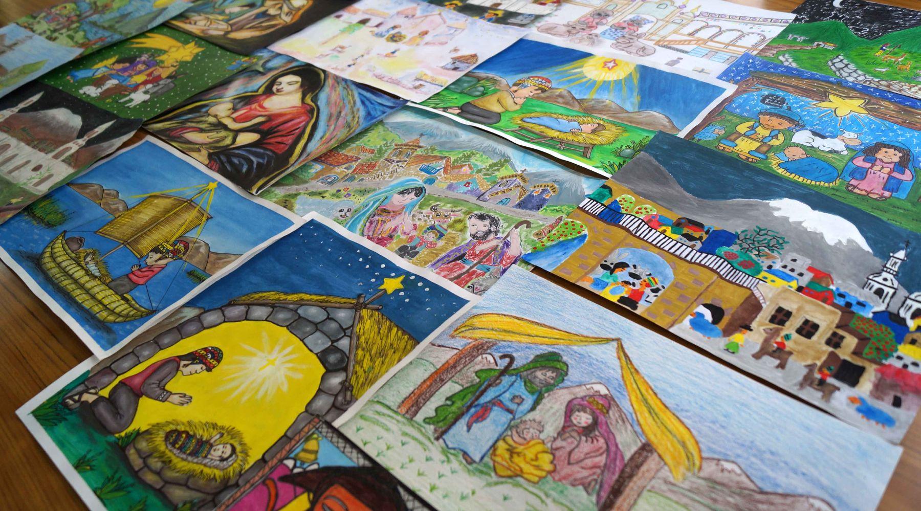 Inabif pone a la venta tarjetas navide as con dibujos for Tarjetas de navidad hechas por ninos