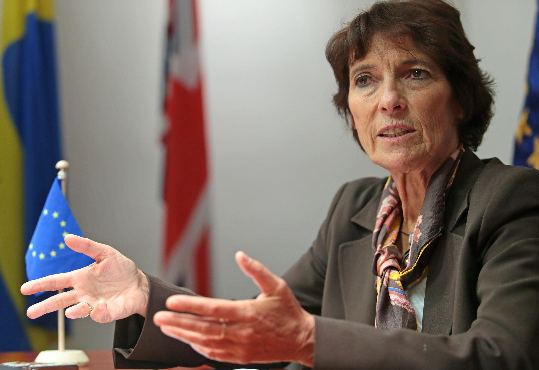 Lima, Perú - Noviembre 11, 2013. Irene Horejs, embajadora de la Unión Europea en Perú.Foto:ANDINA/Carlos Lezama