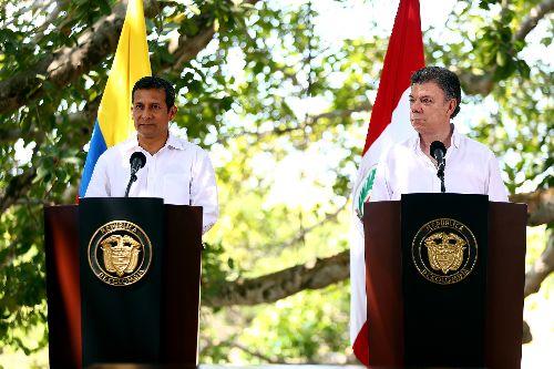 CARTAGENA DE INDIAS,COLOMBIA FEBRERO 11. Firma de Declaración Conjunta y rueda de prensa por parte de los presidentes Ollanta Humala y Juan Manuel Santos en Colombia. Foto: ANDINA/Prensa Presidencia