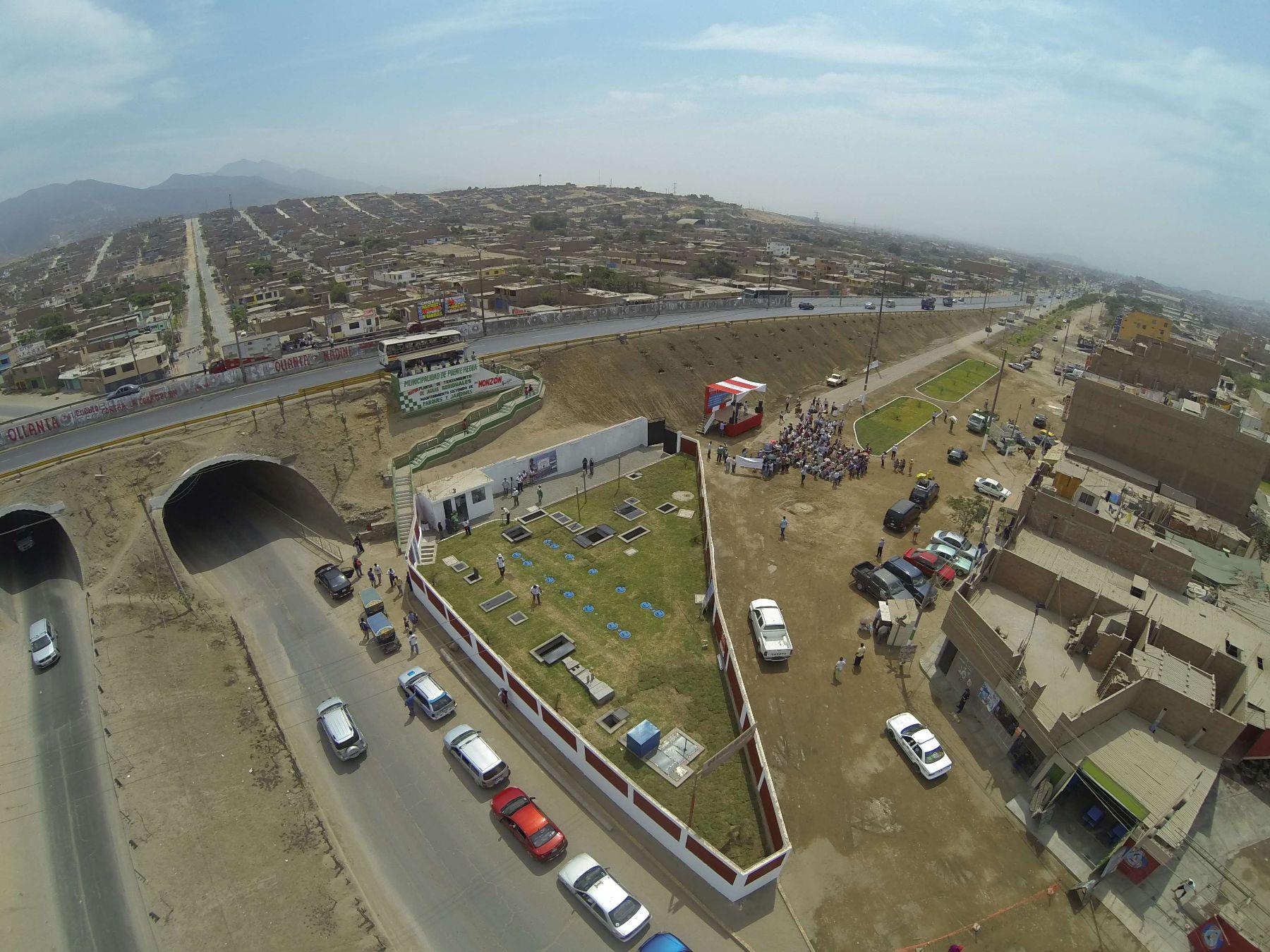 Inauguran planta de tratamiento para regar parques y jardines en puente piedra noticias - Jardines puente cultural ...
