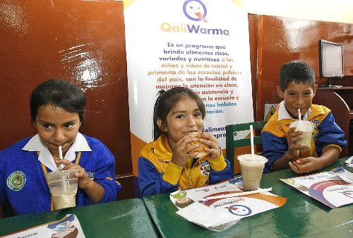 LIMA,PERÚ-10 MARZO. Inauguración  del Año Escolar con el inicio del Programa  de Salud Escolar y la entrega de  desayunos  Qali Warma 2014. Foto: ANDINA/Norman Córdova