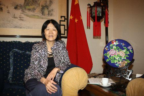 LIMA, PERÚ-ABRIL 30.La embajadora de la República Popular China en Perú, Huang Minhui Foto: ANDINA/Norman Córdova