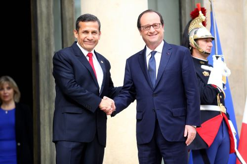 Presidente de la República, Ollanta Humala Tasso, sostuvo encuentro con mandatario francés François Hollande en París