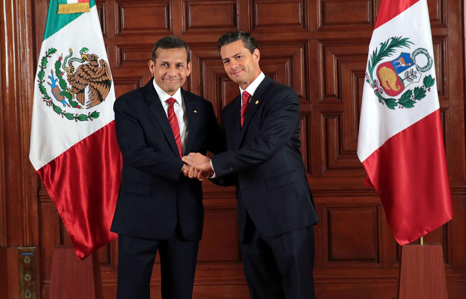 Audiencia de los presidente Ollanta Humala y Enrique Peña Nieto, y reunión ampliada con sus respectivas comitivas.Foto: ANDINA/Prensa Presidencia