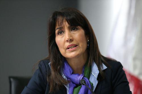 LIMA,PERÚ - AGOSTO 12. Ministra de Comercio Exterior y Turismo, Magali Silva Velarde-Álvarez.   Foto: ANDINA/Norman Córdova