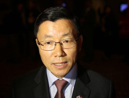 LIMA,PERÚ - AGOSTO 25. Embajador de La República de Corea, Keun Ho Jang     Foto: ANDINA/Norman Córdova