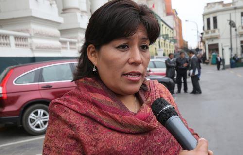 Vicepresidenta del Congreso peruano, Natalie Condori, ANDINA/Norman Córdova