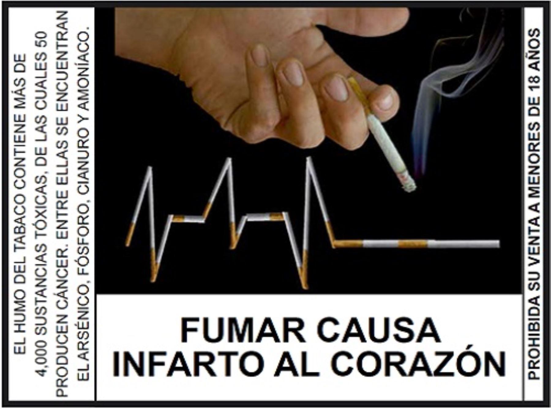 Resultado de imagen para fumar causa infarto