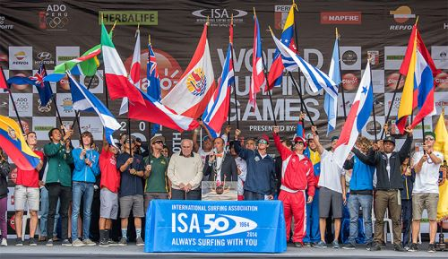 Claro Isa 50th anniversary World Surfing Games
