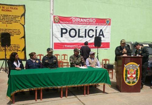 Confiscan bienes al narcotráfico, vehículos y cuentas en Operación Corredor Sur Andino. ANDINA